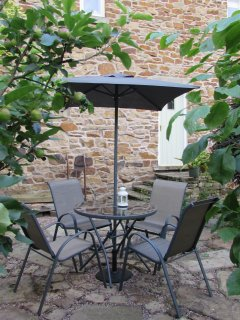 Private patio with direct access to property.  Seating for 4 people.