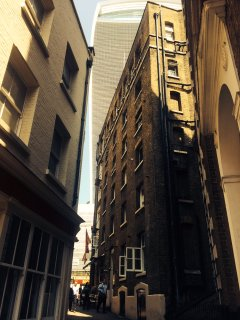 Nearby 20 Fenchurch Street is better known as the Walkie-Talkie.