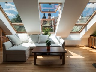 Living room with a view of Old Town