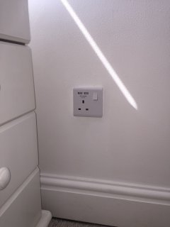 Sockets throughout with integrated USBs