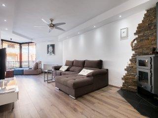 Terraza del apartamento junto a la playa de Castelldefels