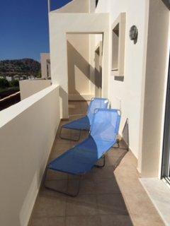 Balcony outside bedrooms