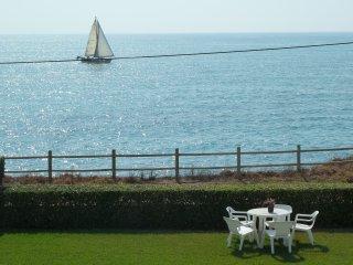 Apartamentos con jardín en primera linea playa con vistas directas al mar