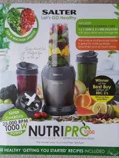 From the 26th July 2016, the Kitchen will have a NutriPro 1000 Watt Superfood Blender.