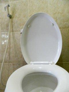 Shared shower & toilet.