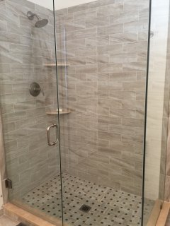 North bathroom shower