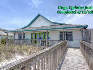 Huge Beach! Beautiful Home! One level! New Decor! Why not?, Topsail Beach