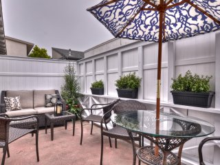 Private patio with dining for 4