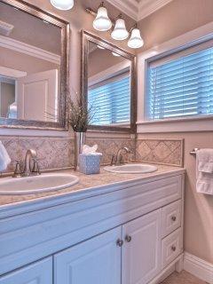 Roomy double sink bathroom
