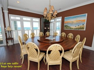 Seating for 14 with huge lazy susan