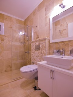 2nd bathroom with large walk in shower