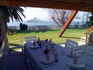 Villa Eretria with private beach and waterfront