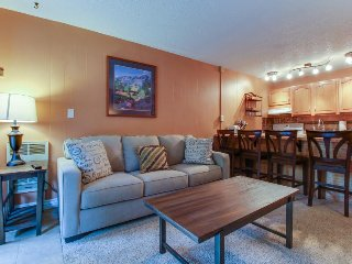 Comfy riverfront condo w/ shared pool & sauna - walk to ski lifts!, Keystone