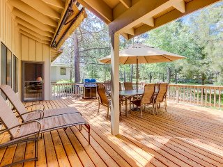 Dog-friendly Sunriver home with private hot tub, resort amenities, SHARC access!