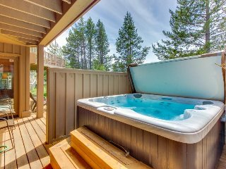 Stunning home with SHARC passes, private hot tub, & Woodlands Golf Course views