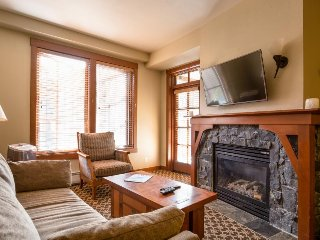 Ski-in/ski-out Village condo with a balcony and shared hot tubs, saunas & a gym!