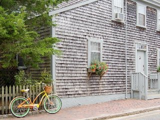 Historic dog-friendly home w/garden patio, shared pool, close to ferry & beaches, Nantucket