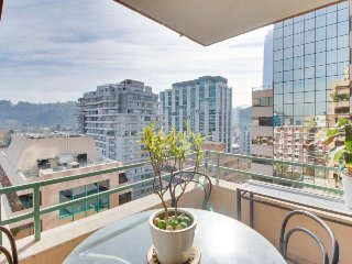 Bright condo w/ stunning views in center of town, Santiago