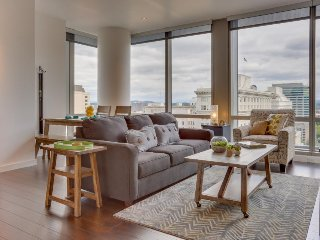 Upscale, dog-friendly downtown condo w/ great views & new furnishings!