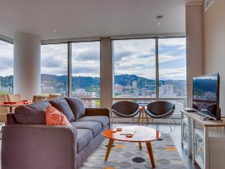 Sleek, dog-friendly condo w/ sweeping city views - great location!, Portland