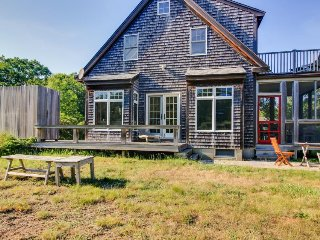 Gorgeous private home with outdoor shower and enclosed porch, West Tisbury