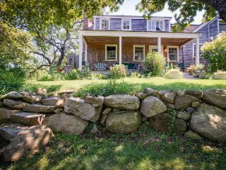 Spacious clapboard home with large yard and outdoor shower, Chilmark