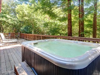 Atmospheric dog-friendly home w/ hot tub & 2 decks, close to the river & ocean!, Cazadero
