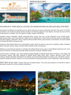 Taino Beach Resort and Clubs on Grand Bahama Island in the Bahamas unit for rent.