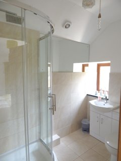 Ensuite bathroom off Bedroom 1, with shower