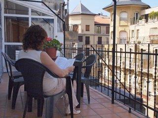 Buena terraza, playa y parking para 4 personas, San Sebastian - Donostia