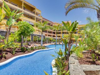 Modern, dog-friendly condo - beach and restaurants nearby, shared pool, WiFi!