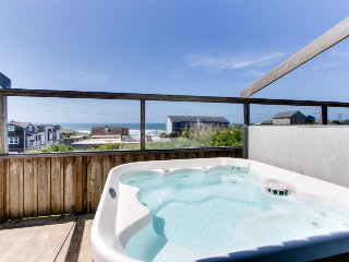 Dog-friendly beach house w/ private hot tub & ocean views!