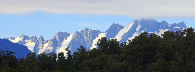 View of the Southern Alps from Code Time Lodge