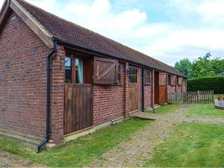 THE SHIRE STABLES, semi-detached stable conversion, single-storey, lawned