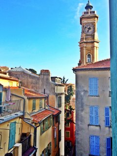 Great view of old Nice from the bedrooms which are at the back of the apt so they are nice and quiet