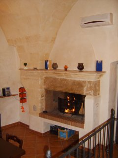 The working fireplace