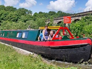 'Hazel' 100 year old wooden canal narrow boat.