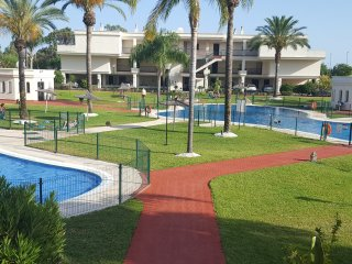 2 Bedroom with Large Terrace overlooking pool.