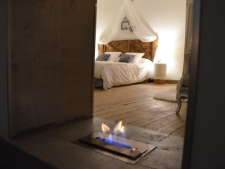 O²suites chambre scandinave avec jacuzzi privatif