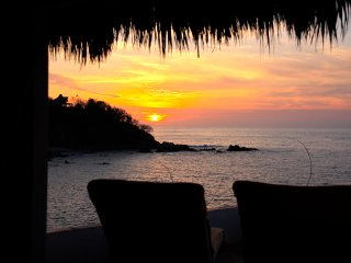 Romantic and Remote Ocean Front Eco Palapa House, Puerto Vallarta