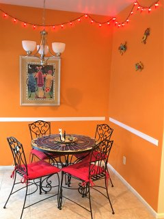 Breakfast Nook with Fun Decorations!
