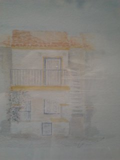Watercolour of apartment