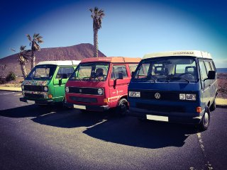VW T3 Bulli mieten, Surf Bus Vermietung CamperVan rental Tenerife Canary Islands
