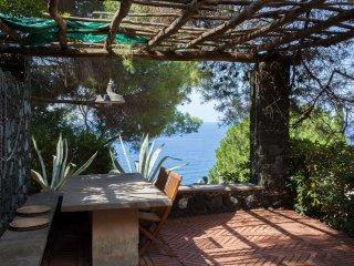 Casa Rosmarino. Mediterranean garden, sea view., Bonassola