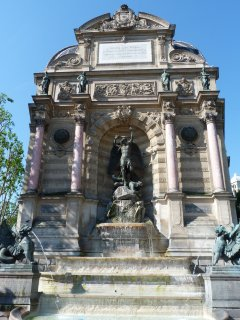 'The  Fontaine Saint Michel ' is at  50 metres.