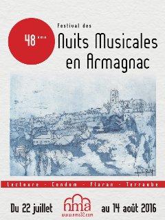 Nuits Musicales en Armagnac pendant juillet et août, à Lectoure, Condom, Flaran et Terraube
