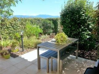 Confortable, calme, rez-de-villa 6 pers proche de la mer, d'Ajaccio et Porticcio, Sarrola-Carcopino