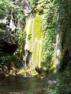 Waterfall, nearby creek Monia