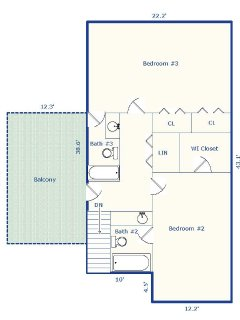 Upstairs floorplan