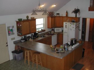Enjoy the large open, fully stocked kitchen.